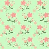 Seamless fjädra blommabakgrund Vektor Illustrationer