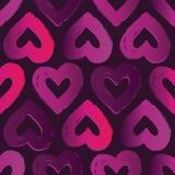 Den seamless vektorn mönstrar med hjärtor Abstrakt bakgrund för dag för valentin` s Arkivfoto