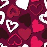 Den seamless vektorn mönstrar med hjärtor Abstrakt bakgrund för dag för valentin` s Royaltyfri Foto
