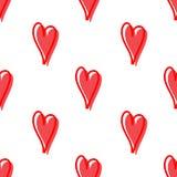Den seamless vektorn mönstrar med hjärtor Yttersida för inpackningspapper, skjortor, torkdukar, Digital papper royaltyfri fotografi