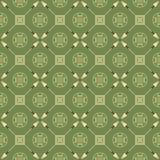 Seamless mönstra med pilar och symboler Royaltyfri Bild