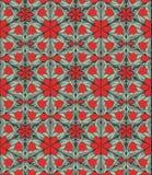 Seamless mönstra med röda tulpan Arkivfoto