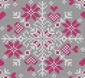 Den seamless vintern mönstrar. Knitted utformar. Arkivbilder