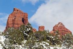 Den Sedona vintern landskap Arkivbilder