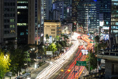 Den Seoul natten rusar Arkivbild