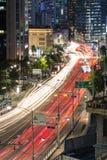 Den Seoul natten rusar Arkivfoton