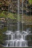 Den Sgwd år Eiravattenfallet, Brecon leder nationalparken, Wales arkivbild