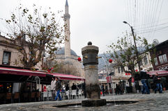 Den Shadrvan springbrunnen i Prizren, Kosovo Royaltyfri Foto
