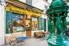 Den Shakespeare och Co.-bokhandeln i Paris. Arkivfoto