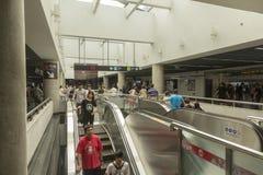 Den Shanghai tunnelbanan/gångtunnelen arkivfoton