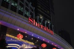 Den Sheraton Hotel ytterdörren royaltyfri bild