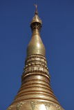 Den Shwedagon pagoden av Rangoon i Myanmar royaltyfria foton