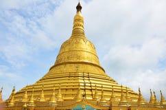 Den Shwemawdaw Paya pagoden är en stupa som lokaliseras i Bago, Myanmar Royaltyfri Foto