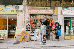 Den Sicilian souvenir shoppar Royaltyfri Foto