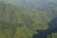 In den Simien-Bergen wandern, Äthiopien lizenzfreie stockfotos