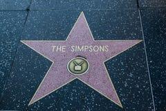 Den Simpsons Hollywood stjärnan royaltyfria bilder