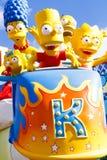 Den Simpsons ritten på universella studior Hollywood royaltyfri foto