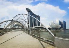 Den Singapore Marinafjärden Sands panoramat Asien Arkivfoton