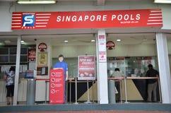 Den Singapore tipsen är den enda lagliga lotterioperatören i Singapore Royaltyfria Bilder