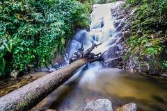 Den Siribhume vattenfallet, den Inthanon nationen parkerar, Chiang Mai, Thailand Arkivbild