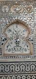 Den Sish Mahal handen målade exponeringsglas royaltyfria foton