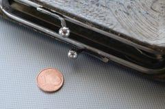 Den sista cent av euro Royaltyfria Foton