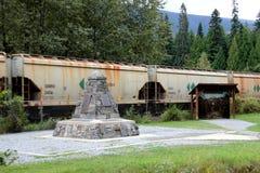 Den sista grova spiken av den kanadensiska Stillahavs- järnvägen Royaltyfri Foto