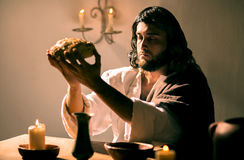 Den sista kvällsmålet av Jesus Christ Royaltyfri Bild