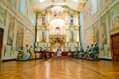Den sista kvällsmålet från Kristus med livstid - sortera statyer royaltyfria bilder