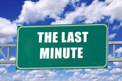 Den sista minuten Arkivfoton