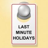 Den sista minuten semestrar showstället för att bli och hotellet Arkivbilder