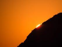 Den sista strålen av solsken Arkivfoton