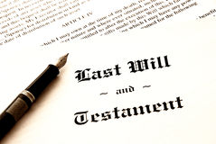 den sista testamentet skallr Royaltyfri Bild