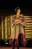 den sjätte gången på området av stuterit av den Hucul ponnyn Gladyszow i Regietowie ägde rum feriemötet med operan Arkivbild