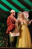 den sjätte gången på området av stuterit av den Hucul ponnyn Gladyszow i Regietowie ägde rum feriemötet med operan Arkivfoto