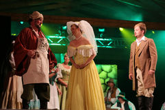 den sjätte gången på området av stuterit av den Hucul ponnyn Gladyszow i Regietowie ägde rum feriemötet med operan Royaltyfria Bilder