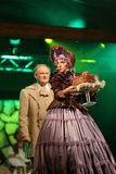 den sjätte gången på området av stuterit av den Hucul ponnyn Gladyszow i Regietowie ägde rum feriemötet med operan Arkivfoton