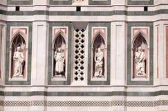 Den skägglösa profeten, den skäggiga profeten, Abraham Sacrificing Isaac, tänkaren, Florence Cathedral Fotografering för Bildbyråer