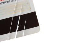 Den skadade kreditkorten Arkivbild