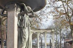Den Skidmore springbrunnen i Ankeny kvadrerar circa 1888 Arkivfoton