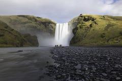 Den Skogafoss vattenfallet Island Royaltyfri Foto