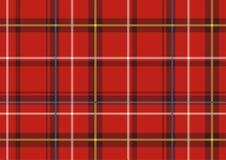 Den skotska plädet Arkivfoto