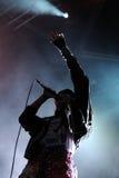 Den slädeKlockor musikbandet utför på San Miguel Primavera Sound Festival Arkivfoton