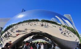 Den Slivery bönan i millenium parkerar, Chicago Arkivbild