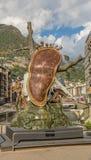Den smältande klockastatyn Andorra Royaltyfri Bild