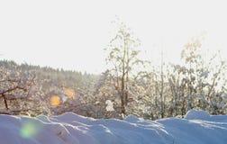 Den smältande snövintern skissar Arkivbilder