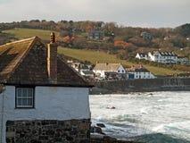 Cornwall - Coverack i vinter Royaltyfri Fotografi