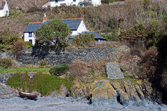 Cadgwith Covestrand Cornwall Arkivbild