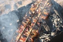 Den smakliga förberedda kebaben Royaltyfri Fotografi