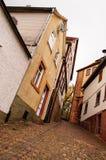 Den smala gatan av Gelnhausen Royaltyfri Bild